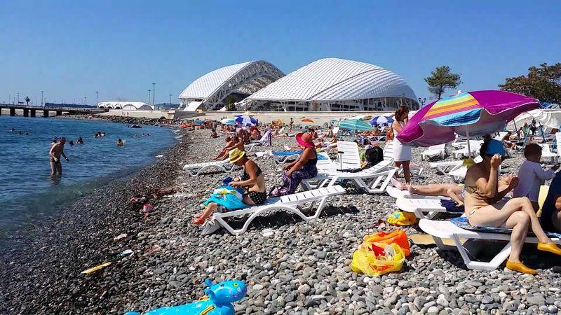 Пляж Олимпийского парка в Адлере на курортный сезон 2021