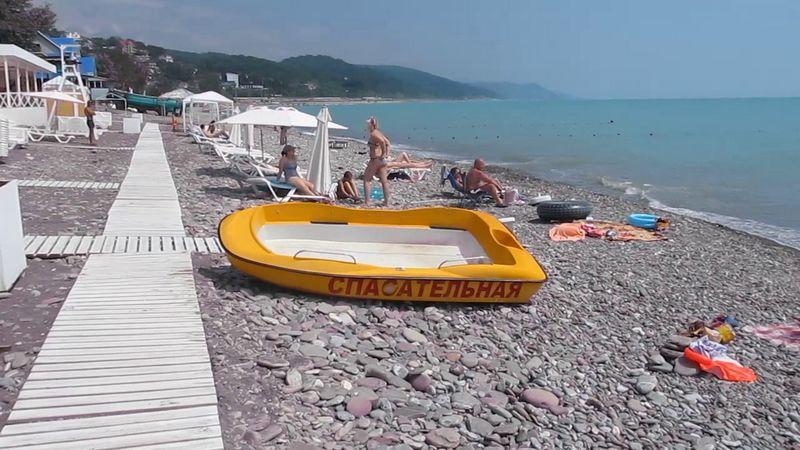 """Пляж """"Лагуна"""" на территории мкр. Лазаревское для отдыхающих на курортный сезон 2021"""