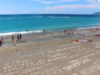 Центральный пляж в городе Гагра - инфраструктура, отзывы туристов, фотографии