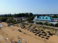 Центральный пляж п. Кучугуры - инфраструктура, развлечения, фотографии, панорама