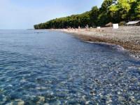 Описание Центрального пляжа в поселке Пицунда на лето 2021 года, фотографии, отзывы туристов