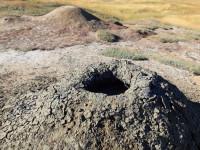 Грязевой вулкан Гефест вблизи гнилой горы города Темрюка