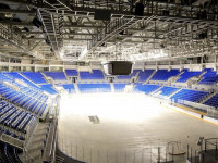 Хоккейный стадион «Шайба» на территории Олимпийского парка в Адлере