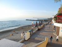 чистые пляжи в Поселке Хоста