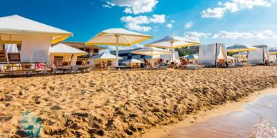 «Лазурный берег» - самое чистое побережье в Евпатории - описание, как проехать, маршрут, цена.