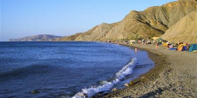 Описание пляжа Лисья бухта в поселке Коктебель, фотографии, инфраструктура, как проехать, месторасположение