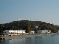 курортный поселок Лоо на берегу Черного моря