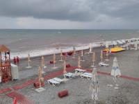 Пляж Багратион в курортном поселке Лазаревское