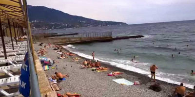 Пляж Дельфин г. Ялта - описание, развлечения, фотографии, месторасположение, отзывы туристов