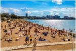 Пляж Эдельвейс в Геленджике - оборудованный пляж в самом центре города для отдыхающих нА 2021 год.