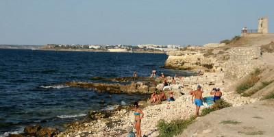 Дикие пляжи у Херсонеса Таврического город Севастополь, фотографии, достопримечательности, отзывы