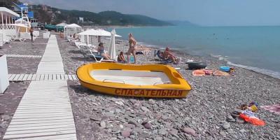 """Пляж """"Лагуна"""" на территории мкр. Лазаревское для отдыхающих на курортный сезон 2020"""