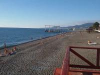 Пляж Огонек на территории города Адлер