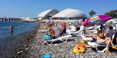 Пляж Олимпийского парка в Адлере на курортный сезон 2020