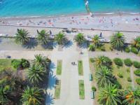 Описание пляжа пансионата Энергетик в городе Гагра, отзывы туристов, фотографии