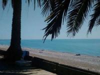 Пляж пансионата Гагрипш в городе Гагра - инфраструктура, фотографии, отзывы туристов