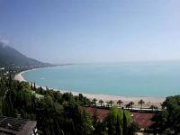 Пляж пансионата Колхида в городе Гагра - на лето 2021 года, отзывы туристов, фотографии.