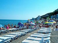 Пляжи санаторной зоны Профессорский уголок в Алуште - подробная информация, отзывы, фотографии