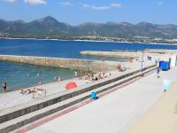 Пляж «Прометей» в курортном поселке Кабардинка