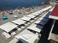 Один из лучших пляжей Кудепсты - Робинзон лето 2021 года