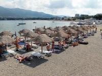 Пляж Сады морей в самом центре Геленджика