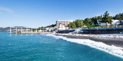 Пляж санатория Заполярье для отдыха в курортный сезон 2020 года