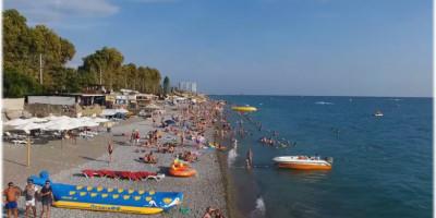 Пляж Свирский на территории поселка Лазаревское для отдыхающих на лето 2020 года
