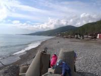 Пляж Свирский на территории поселка Лазаревское для отдыхающих на лето 2021 года