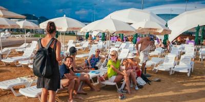 "Пляж ""Волна"" на территории курорта Адлер 2020"