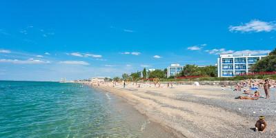 Санаторные пляжи в городе Саки - фотографии, отзывы, месторасположение, маршрут