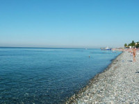 Пляжи Совхоза Россия Адлер — пляж бухта Нижнеимеретинская в Адлере