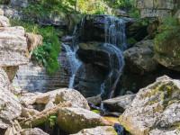 Парк водопадов Менделиха в районе горного Сочи